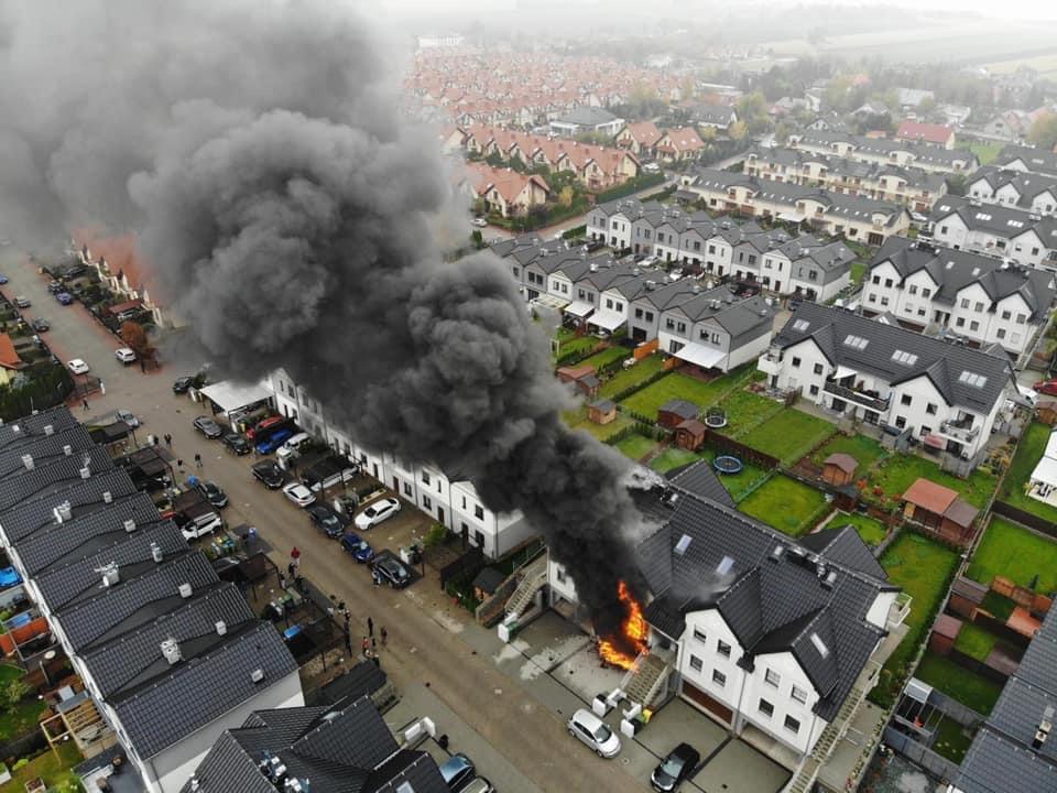 Pożar wKarwianach