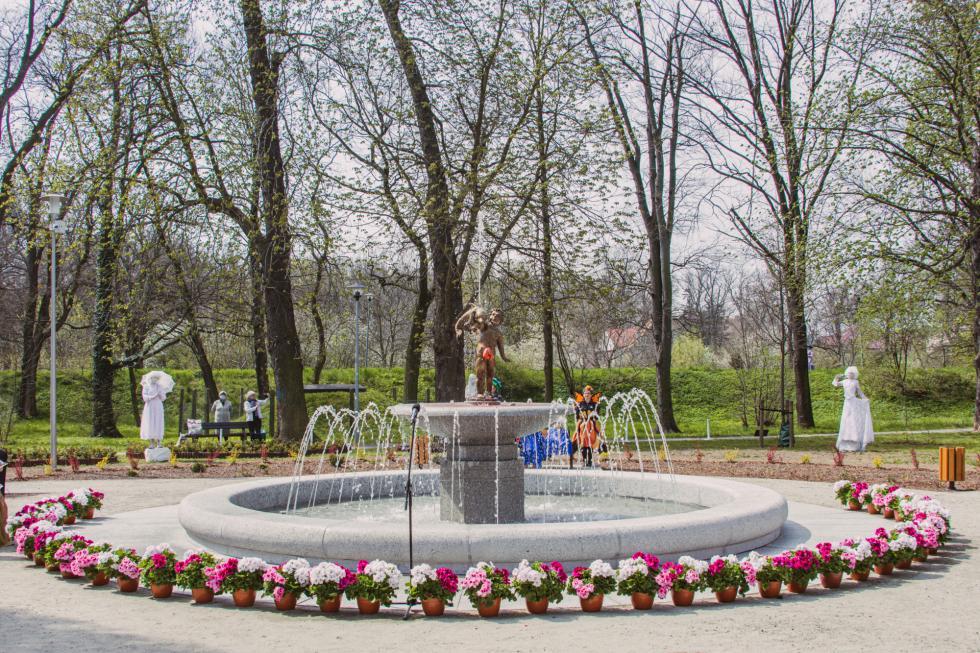 Fontanna wjaworskim Parku Miejskim